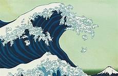 Japanisches Bild Welle - artistic wave illusion