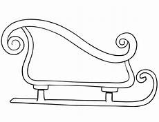 sleigh coloring page child coloring