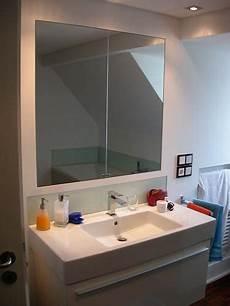 spiegelschrank in wand eingelassen spiegelschrank fl 228 chenb 252 ndig eingelassen in der wand in