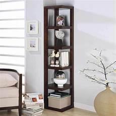 contemporary corner display 5 shelves rack bookshelf