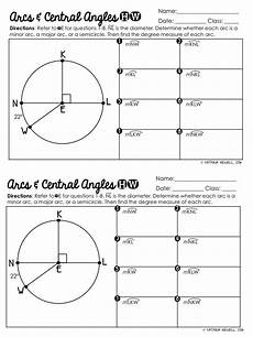 geometry circle worksheets 661 mtbos30 central angles and arcs circle math geometry worksheets teaching geometry