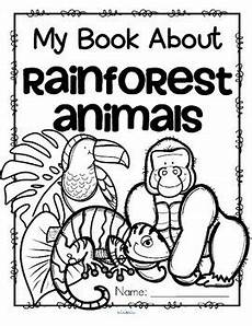rainforest animals coloring pages preschool 17131 rainforest animals activity printables read color and draw make a book
