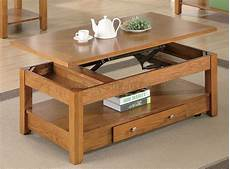Oak Finish Modern Lift Top Coffee Table W Options