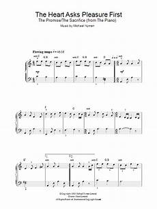 the heart asks pleasure first the promise the sacrifice sheet music direct