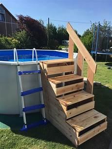 bois pour piscine escalier pour piscine hors sol par rigy sur l air du bois