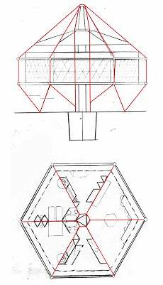 dymaxion house plans dymaxion developments emergency house hexagon design