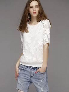 top blanc chic chemisier blanc chic dentelle t shirt pour femmes
