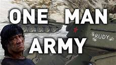 the one man world of tanks one army