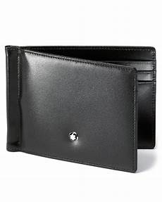 montblanc meisterstuck 6 card wallet with money clip in