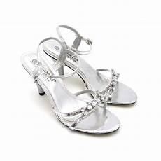 andrea conti strass sandaletten silber m strass absatz