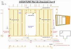 plan maison ossature bois schema construction maison ossature bois