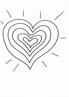 Ausmalbilder Herz Und Kostenlose Malvorlage Herzen Herz Zum Bemalen Zum Ausmalen