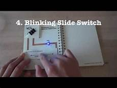 how to switch pages on greeting card template circuit stickers tutorial 4 blinking slide switch
