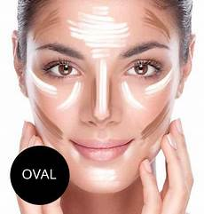 Make Up Richtig Auftragen - contouring ovales gesicht schminken gesicht schminken