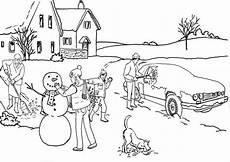 Malvorlagen Grundschule Winter Malvorlage Winter Schnee Kostenlose Ausmalbilder Zum