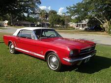 1964 1/2 Red Mustang White Convertible Top For Sale  Ford