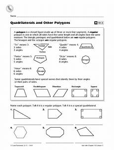 worksheets polygons and quadrilaterals 1025 quadrilaterals and other polygons worksheet for 5th grade lesson planet