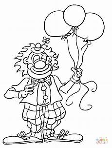 clown for birthday coloring page free printable