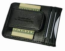 Genuine Leather Money Clip Front Pocket Wallet With Magnet