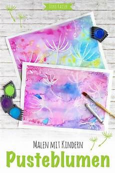 malen mit kindern wunderbare pusteblumen mit wasserfarben