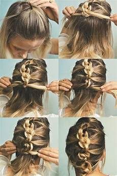 quick up hairstyles for medium hair 18 quick and simple updo hairstyles for medium hair