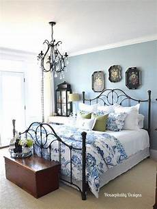 Bedroom Ideas Black Iron Bed by Bring On The Blue And White Wrought Iron Beds Bedroom