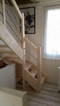 Escalier Perso Design Bois Et Inox Petit Prix Sur