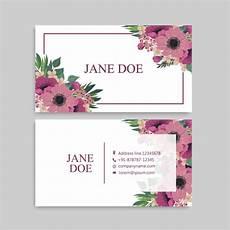 flower card design template floral pattern business card name card design