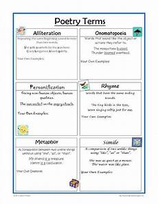types of poetry worksheet 4th grade 25453 poetry terms worksheet great for practice and review poetry terms teaching poetry poetry