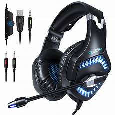 Onikuma Single Stereo Gaming Headset by Onikuma 2019 Stereo Gaming Headset K1 Pro Wired Gaming