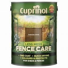 buy cuprinol less mess shed fence care autumn gold 5l from our exterior paint range tesco