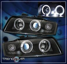 how does cars work 2002 audi s4 spare parts catalogs 2002 2005 audi a4 s4 halo led projector headlight l black 2003 2004 angel eye ebay