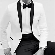 Veste Costume Blanc Et Noir Homme Mode Europ 233 Enne 2018 2019