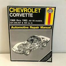 car repair manuals download 2010 chevrolet corvette on board diagnostic system haynes chevrolet corvette 1968 thru 1982 automotive repair manual v8 models 274 for sale online