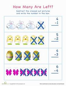 subtraction visual worksheets 10304 subtraction for visual learners easter 1 worksheet education