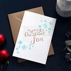 merry christmas son foil christmas card by hunter paper co notonthehighstreet com
