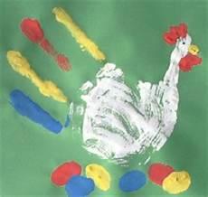 Handabdruck Bilder Frühling - kindergarten homepage handabdruck henne