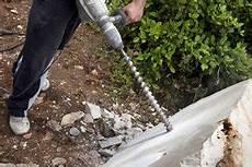 loch in stein bohren quellstein selber bauen schritt f 252 r schritt anleitung