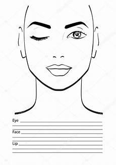 maskenbildner blank vorlage vektorillustration