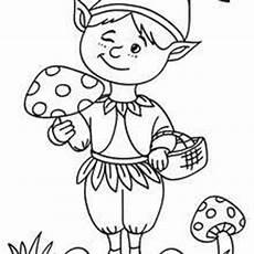 dibujos para colorear elfos es hellokids
