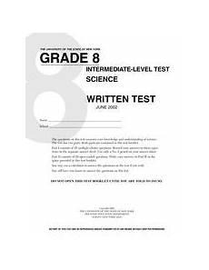 grade 8 science written test 8th grade worksheet lesson planet