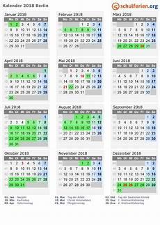 kalender 2018 ferien berlin feiertage
