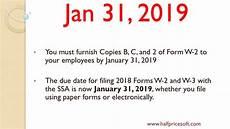 w2 w3 filing deadlines in 2019 youtube
