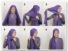 Cara Memakai Pashmina Kaos Polos Simple Tutorial Memakai