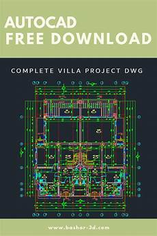 autocad house plans free download complete villa project dwg free download autocad
