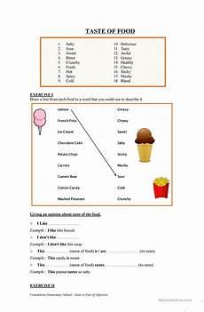 taste of food english esl worksheets