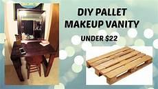 diy pallet makeup vanity cheap youtube