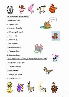 animals abilities worksheets 13782 animals and abilities worksheet free esl printable worksheets made by teachers