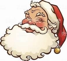 illustration of a jolly looking santa claus stock