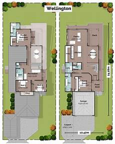 wellington sloping lot house plan home designs building